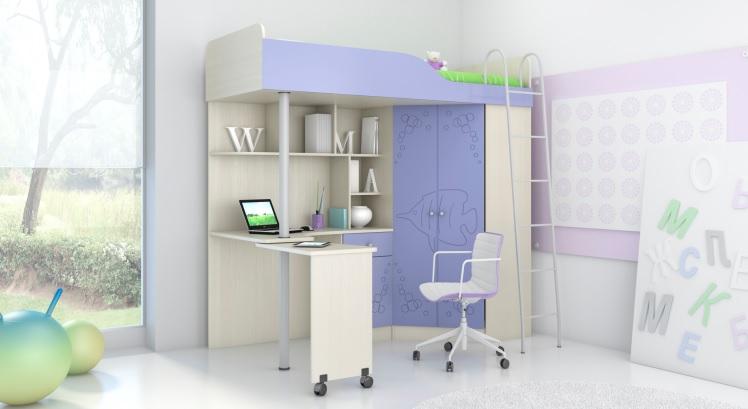 Кровать-чердак детский Артемка-2 - фото