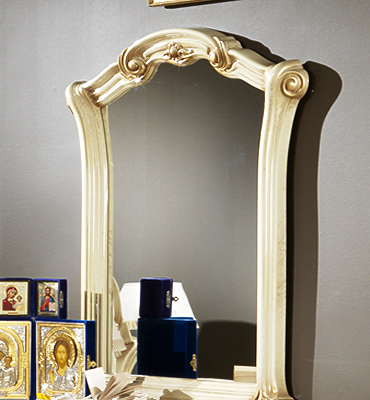 Зеркало в раме Виктория беж - фото