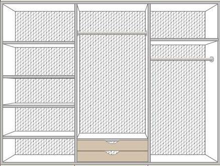 Шкаф Рома 6-дверный - фото