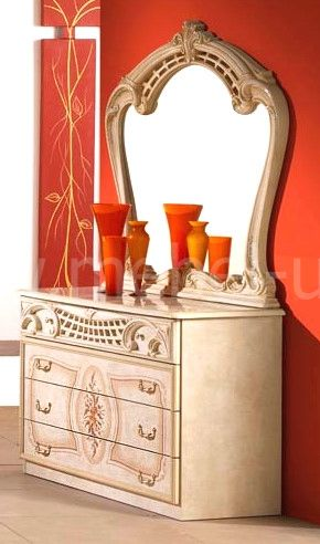 Комод Роза с зеркалом - фото