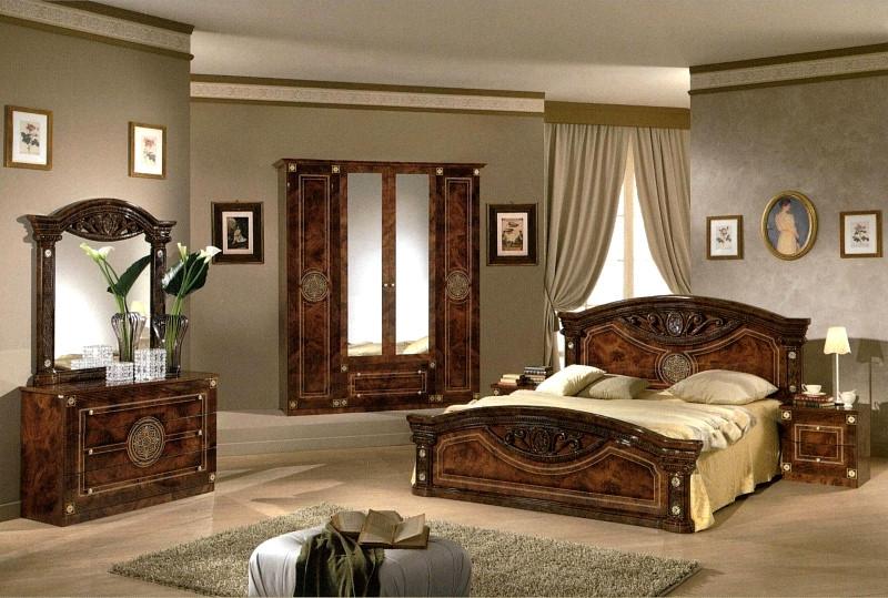 Спальня Рома комплект с 4-дверным шкафом - фото