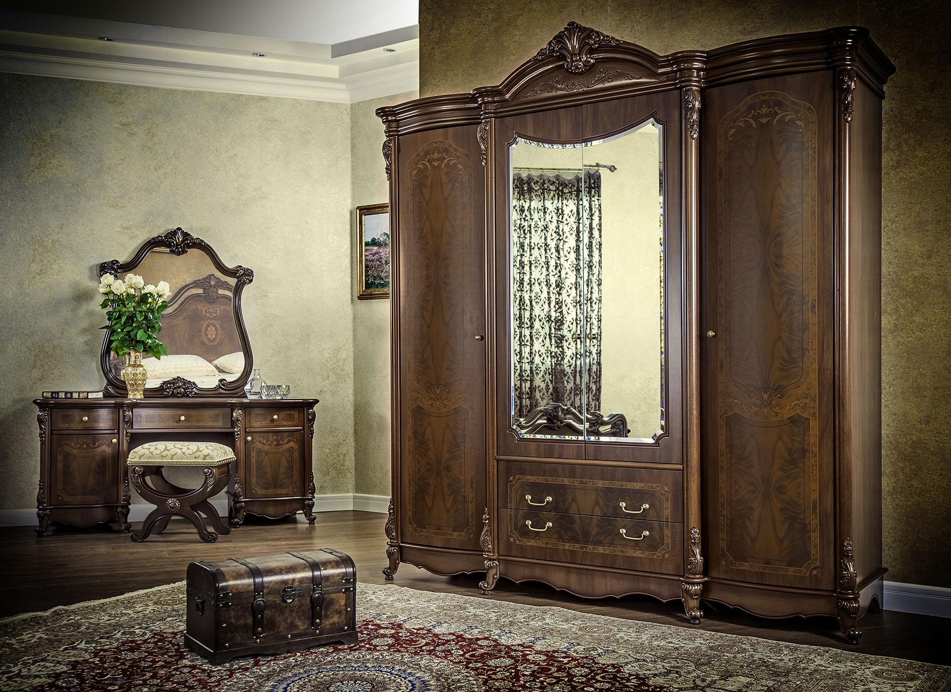 Спальня Илона с 4-дверным шкафом - фото
