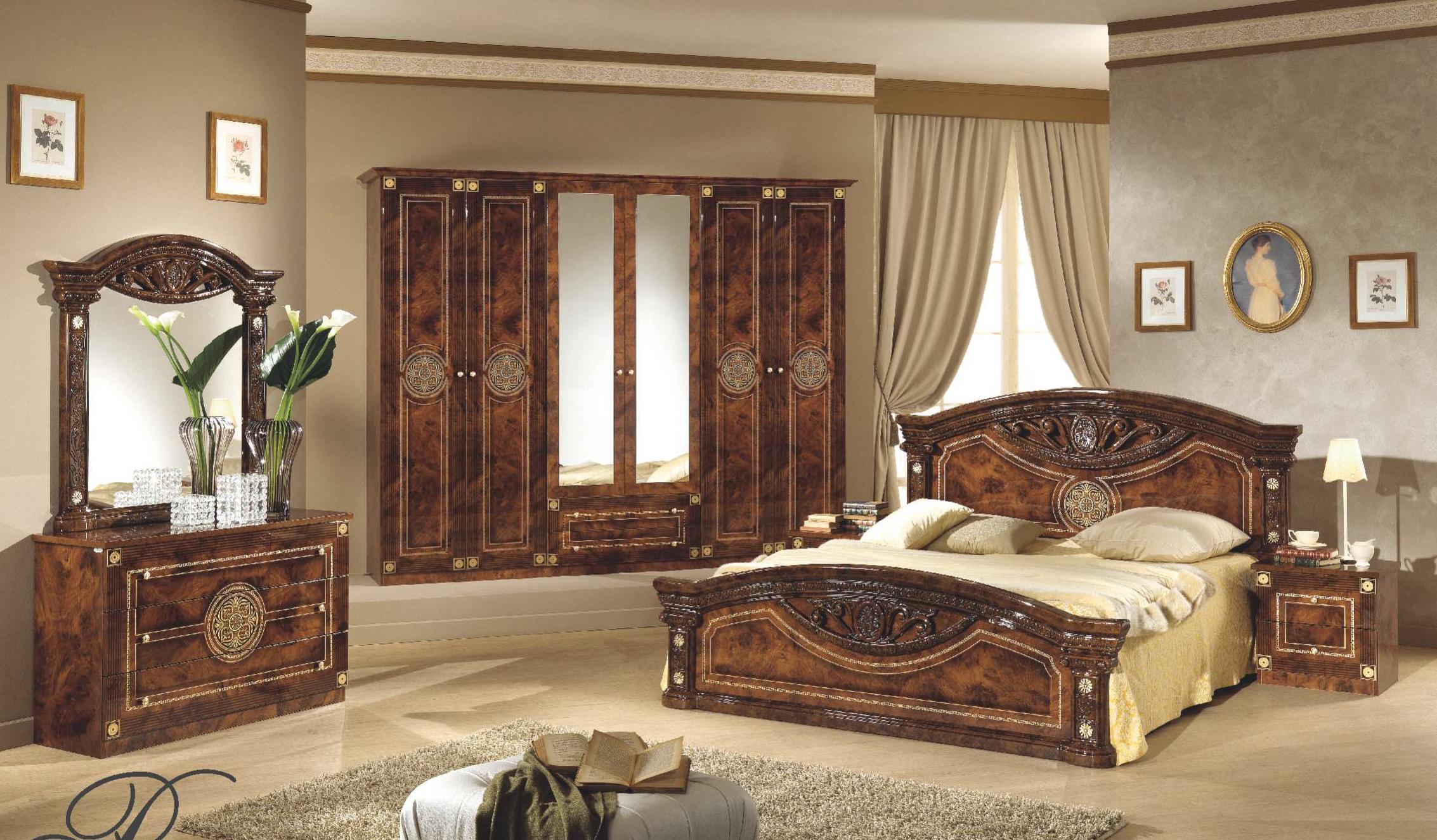 Спальня Рома комплект с 6-дверным шкафом - фото