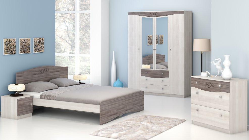 Спальня Ванесса с 4-дверным шкафом - фото