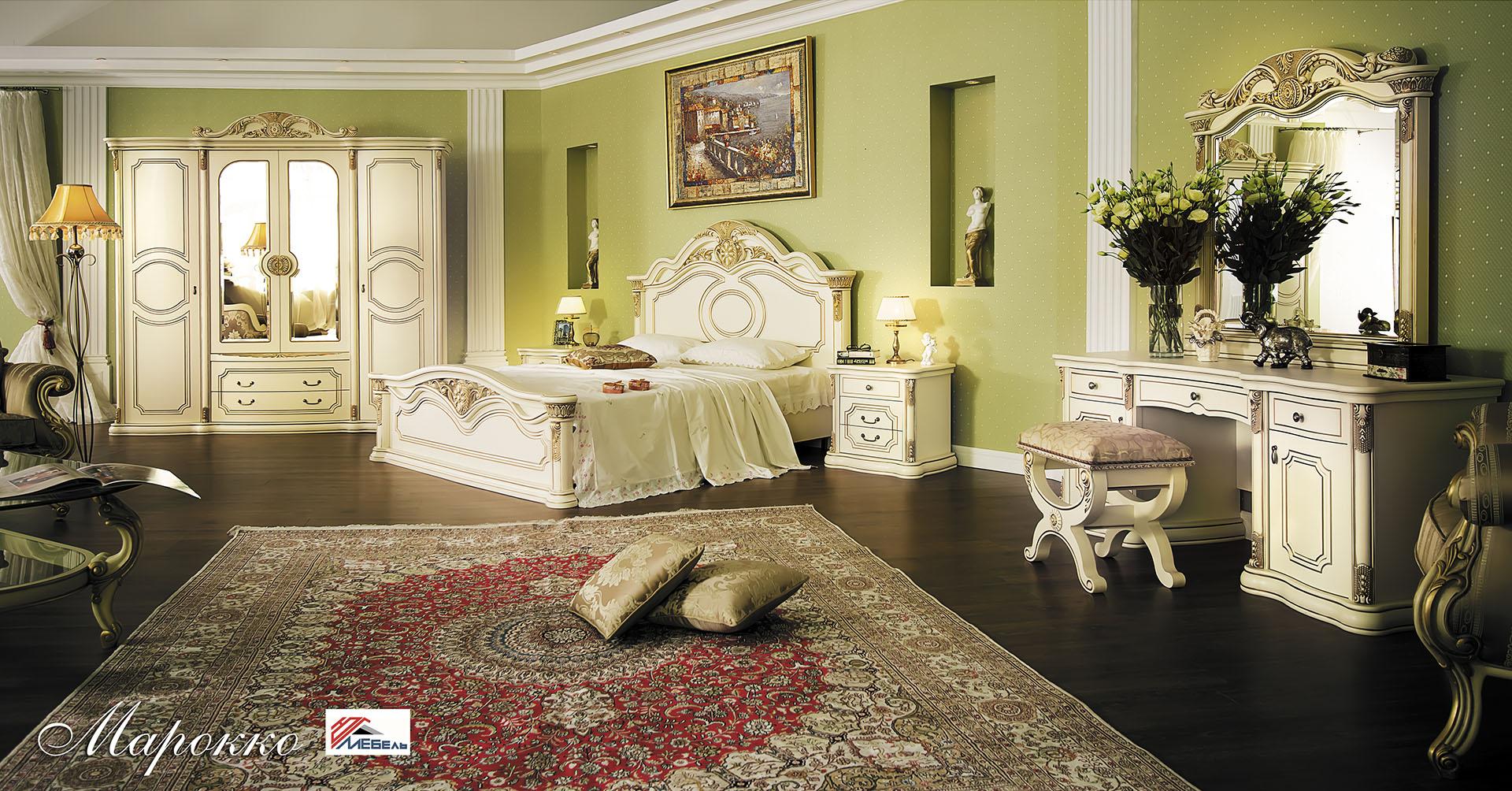 Спальня Марокко с 4-дверным шкафом - фото