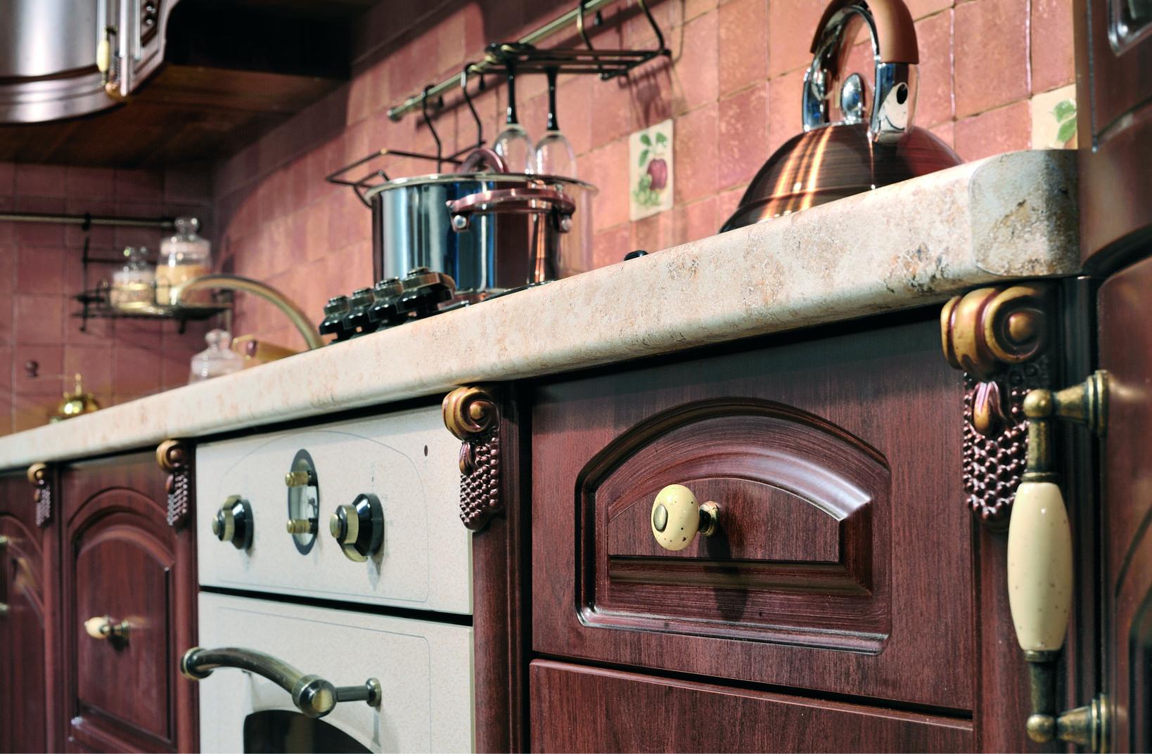Кухня угловая Мадлен, орех караваджо - фото