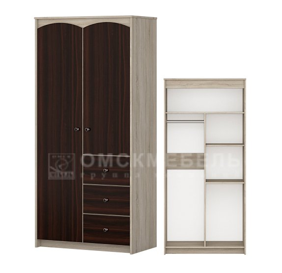 Шкаф 2-дверный детская Ева - фото