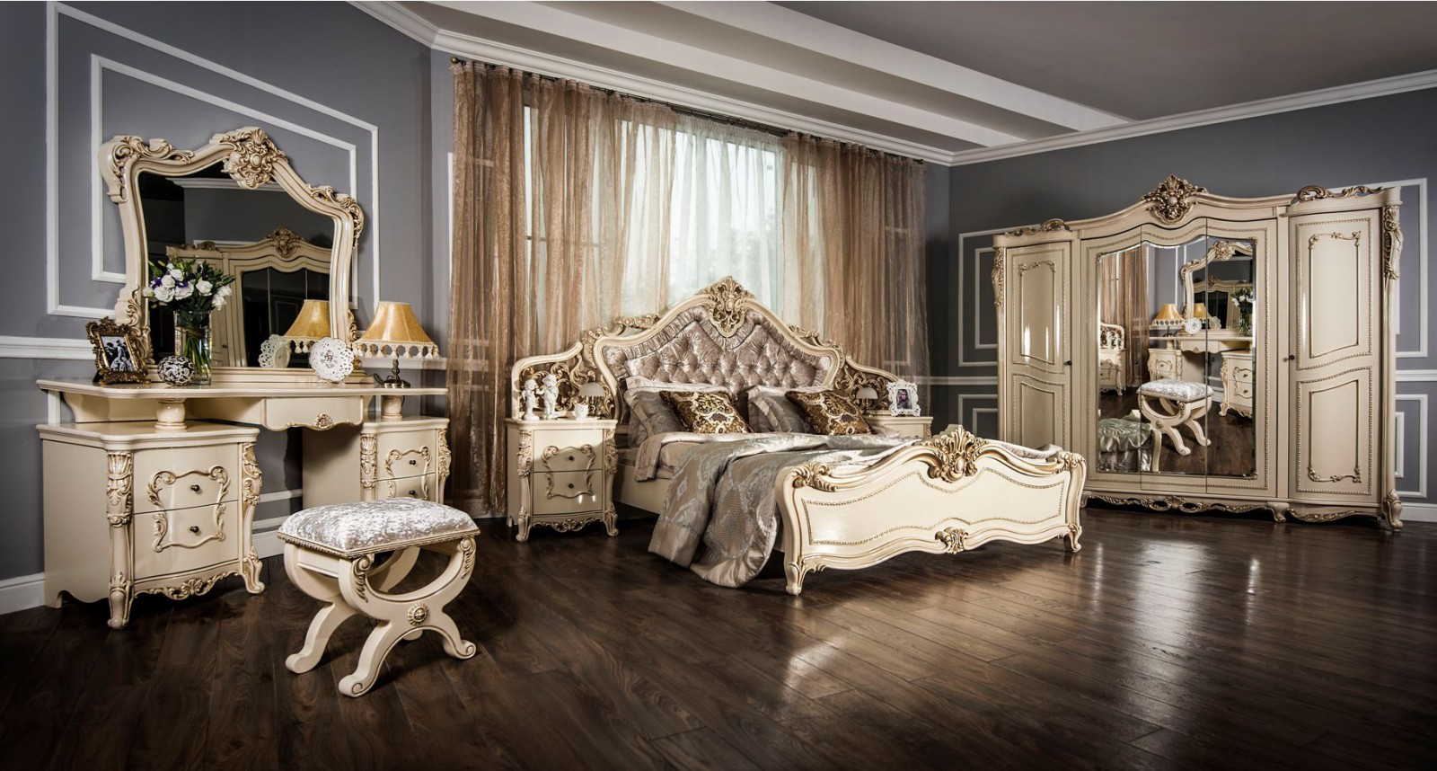 Спальня Джоконда с 5-дверным шкафом - фото