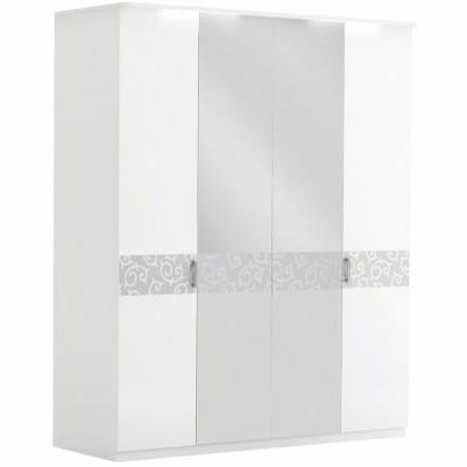 Шкаф 4-дверный с зеркалом БЕЛЛА - фото