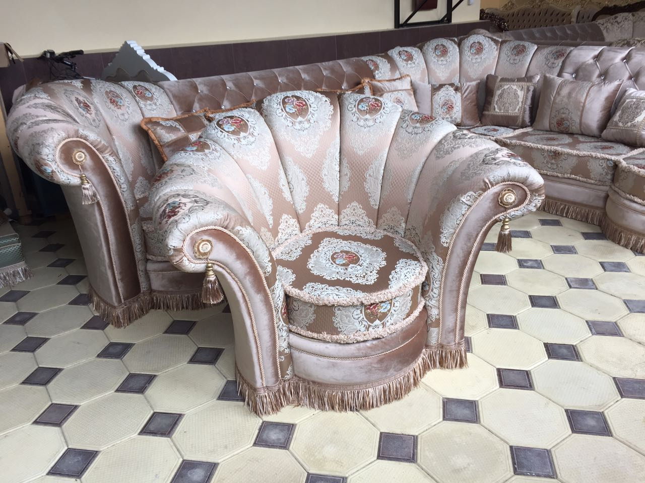 Диван угловой Изабелла с креслом - фото