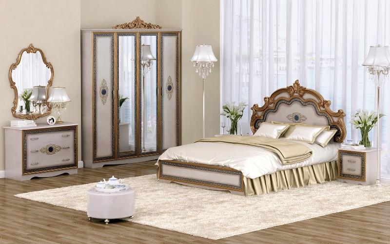 Спальня Сицилия с 4-х дверным шкафом (Акция!) - фото