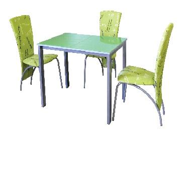 Стол Фристайл с закаленным стеклом - фото