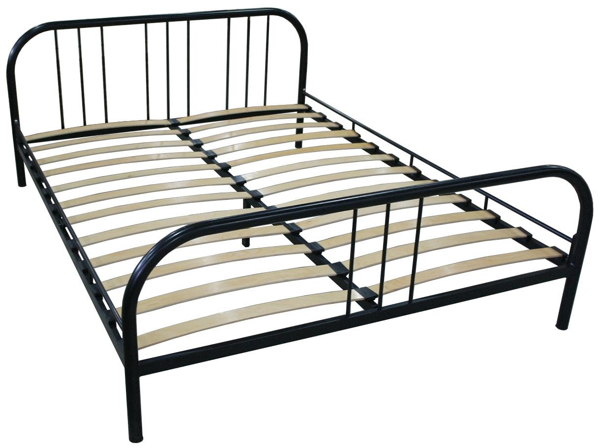 Кровать металлическая с ортопедической решеткой - фото