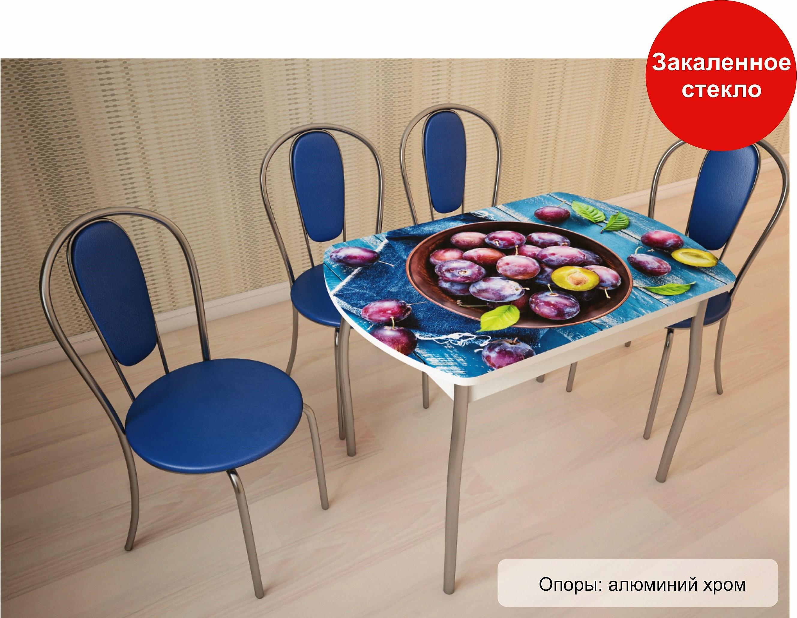 Стол со стеклянной столешницей Орфей 6 - фото