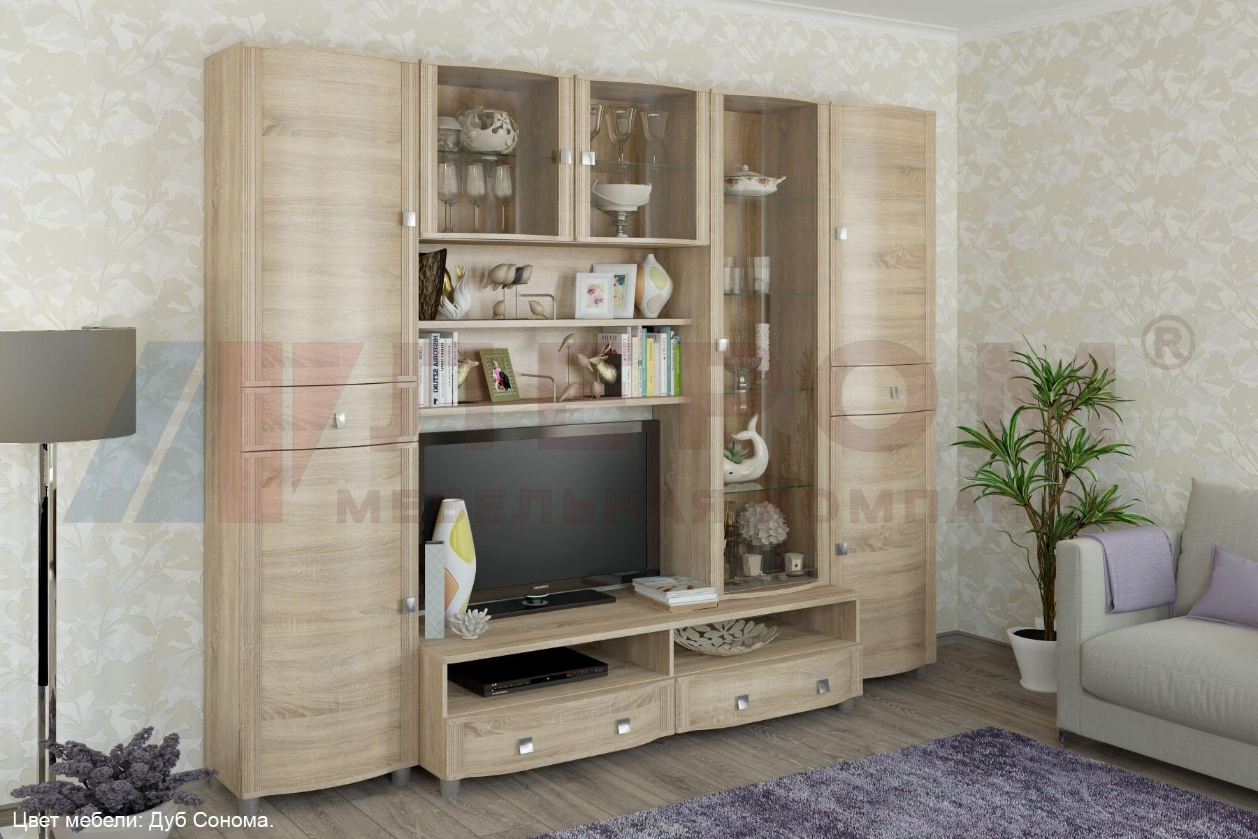 Модульная стенка в гостиную Оливия Лером №20 - фото