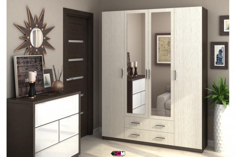 Шкаф Квадро 4-х дверный - фото