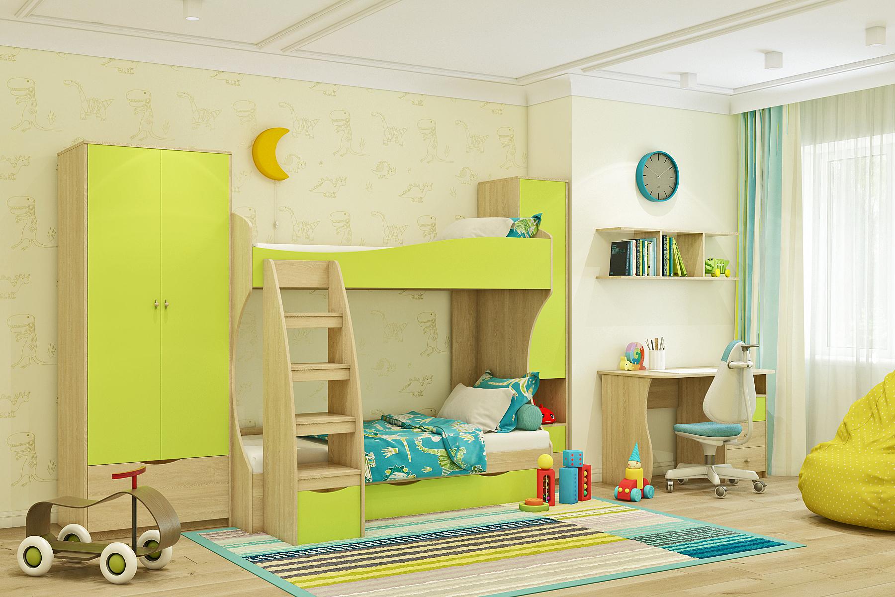 Детский  шкаф 2-дверный Пионер - фото