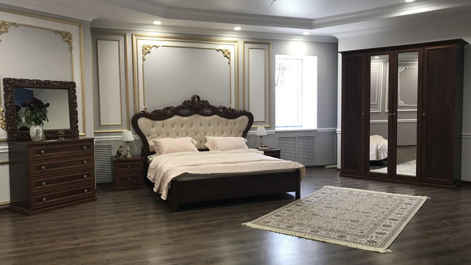 Спальня Афина орех караваджо - фото