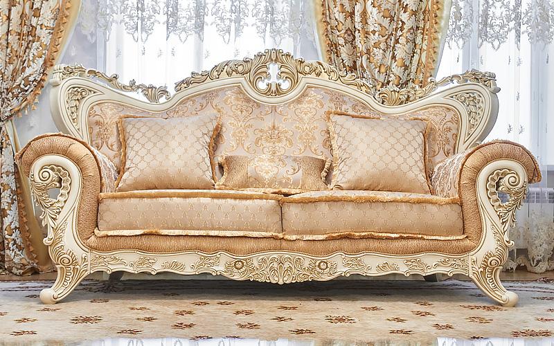 Набор мягкой мебели «ЛОРД» крем / золото / неаполь голд - фото