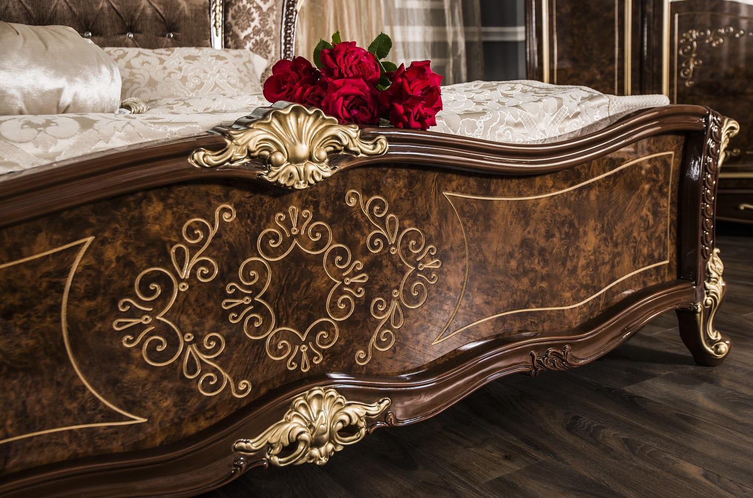 Кровать Оливия корень дуба глянец - фото