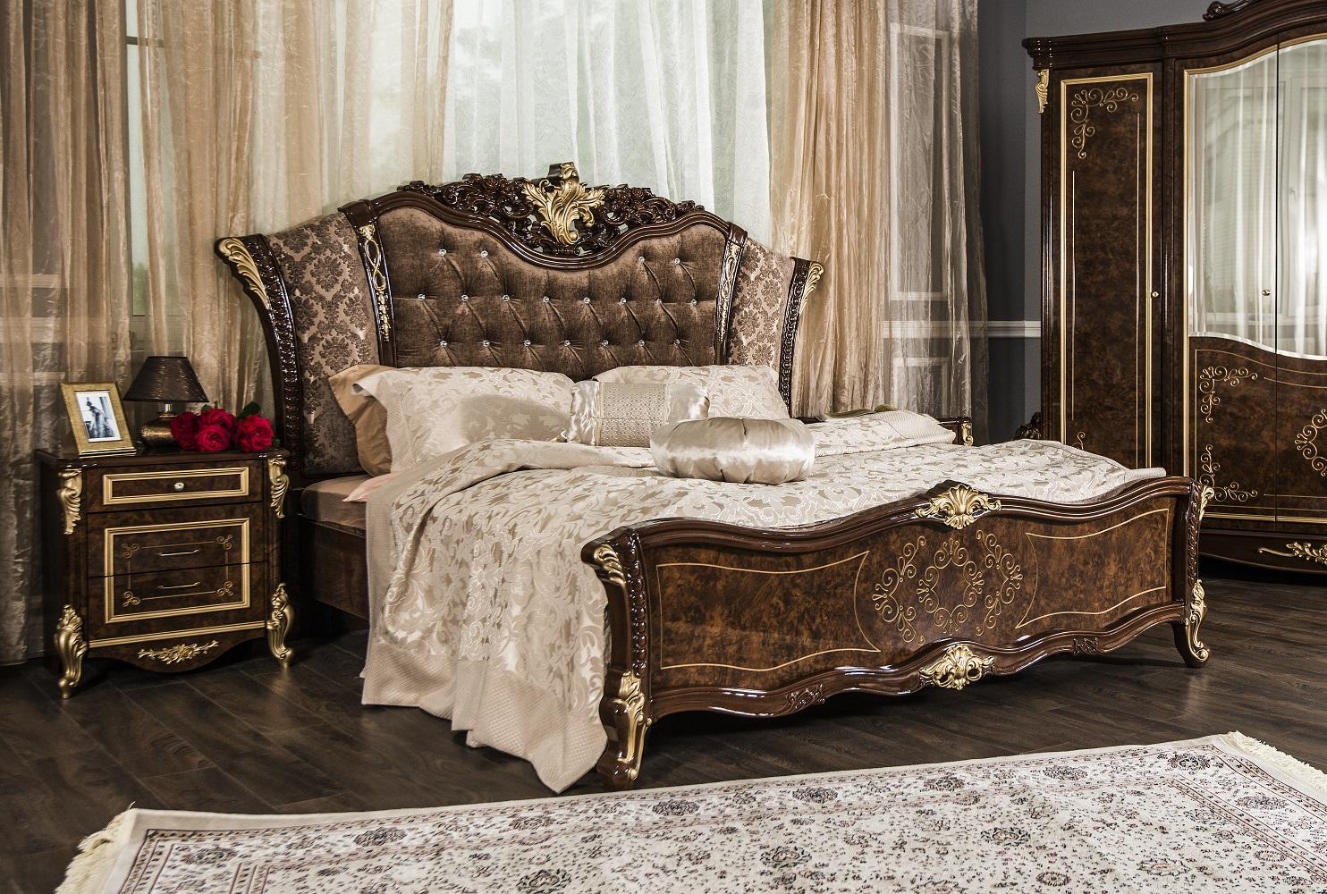 Спальный гарнитур Оливия корень дуба глянец - фото