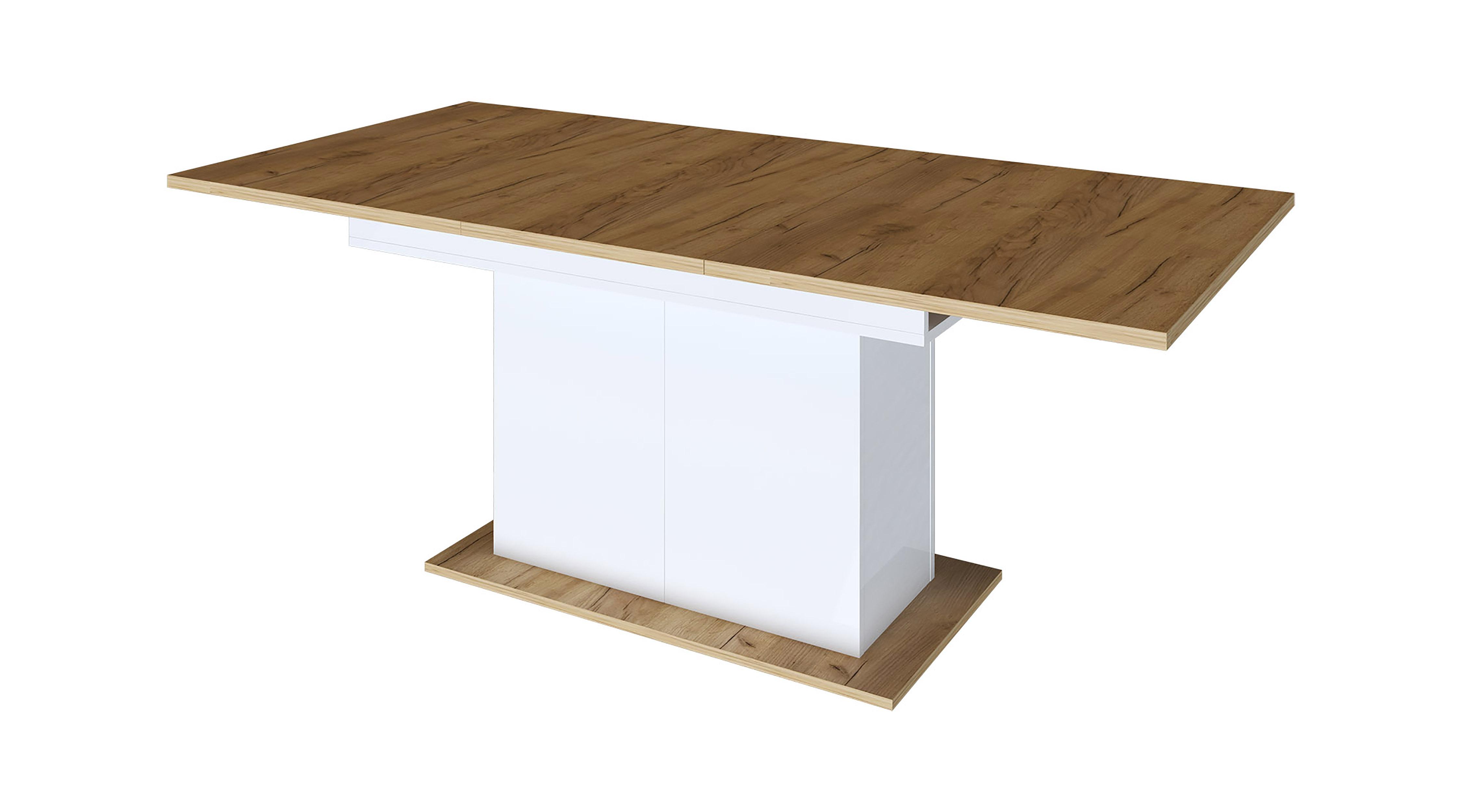 Стол обеденный раздвижной на опоре Дуб крафт - фото