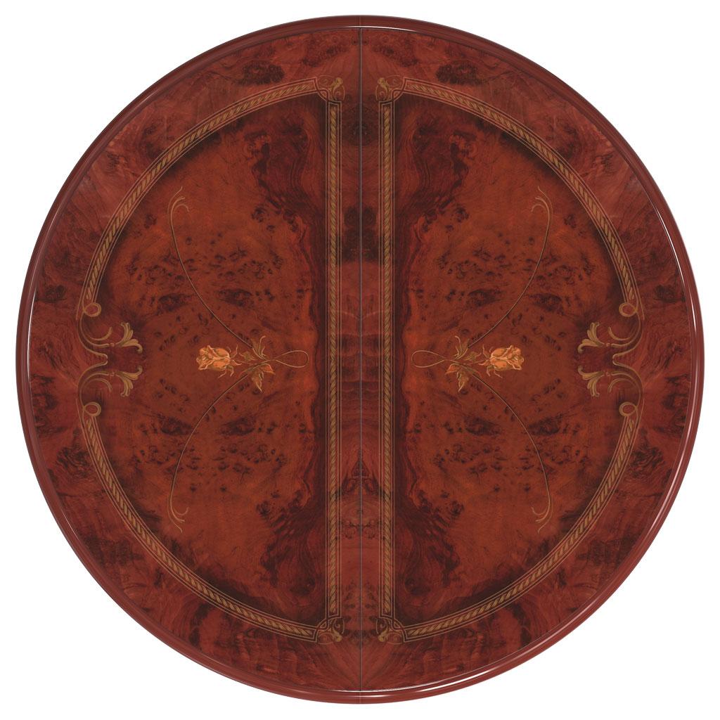 Стол круглый 114(164)*114*78 «Роза Орех» - фото