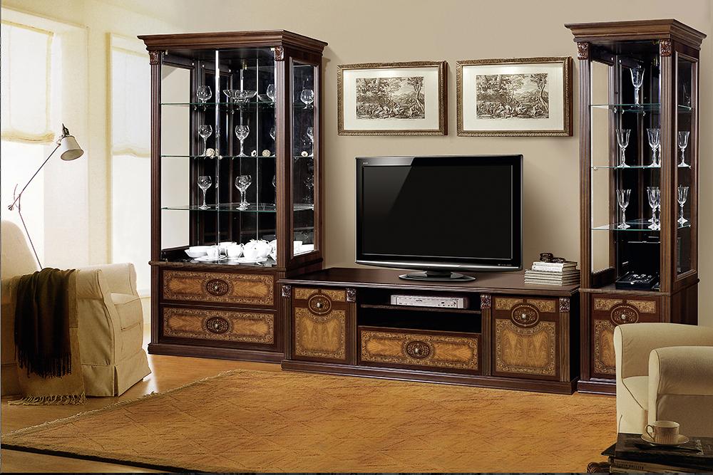 """Мебель для гостиной с ТВ тумбой """"Карина 2"""" Орех - фото"""