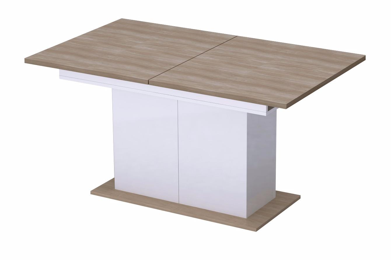 Стол обеденный раздвижной на опоре Дуб урбан - фото