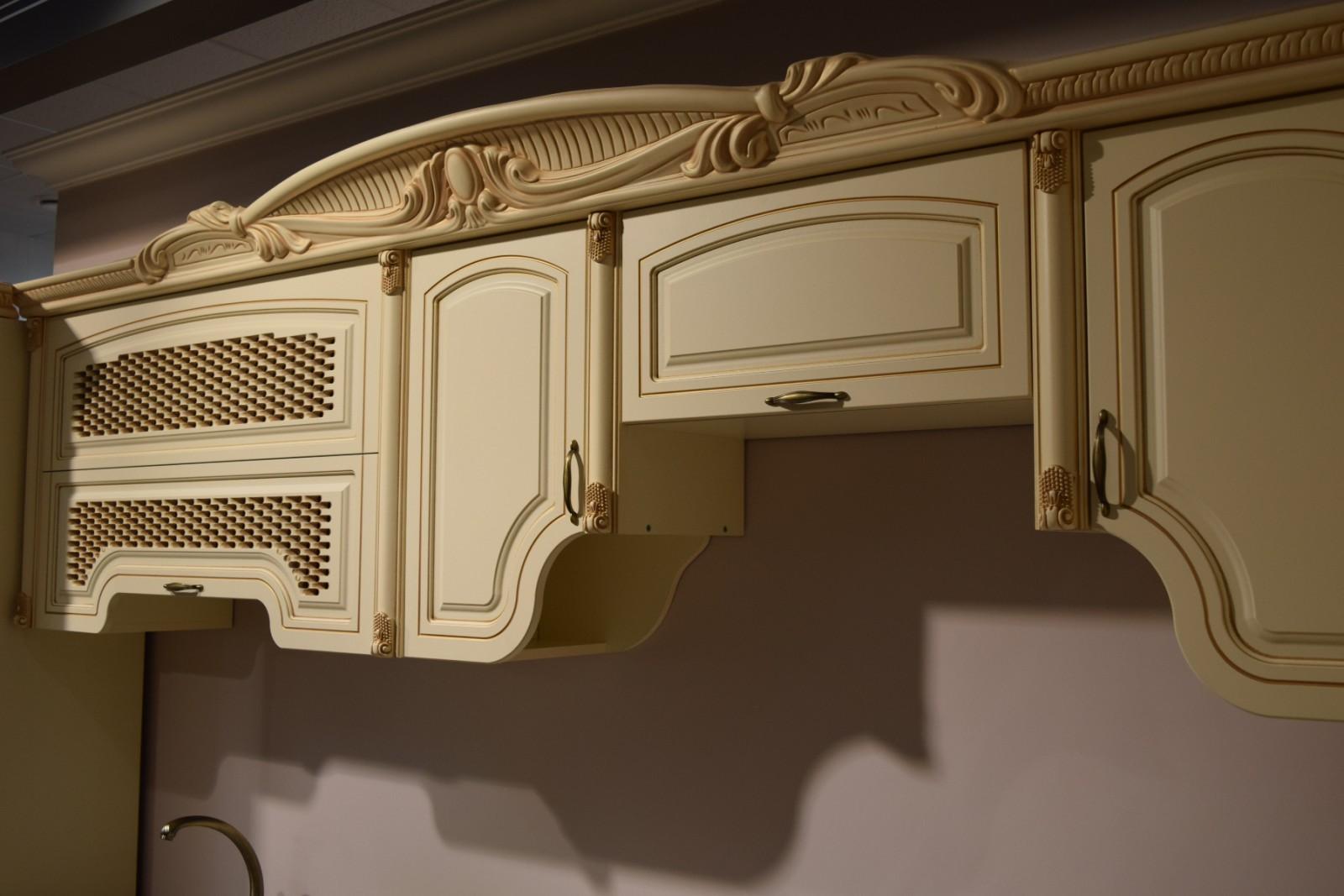 Кухня угловая Мадлен, крем - фото