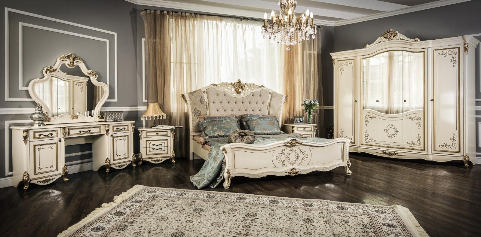 Спальня Оливия крем глянец - фото