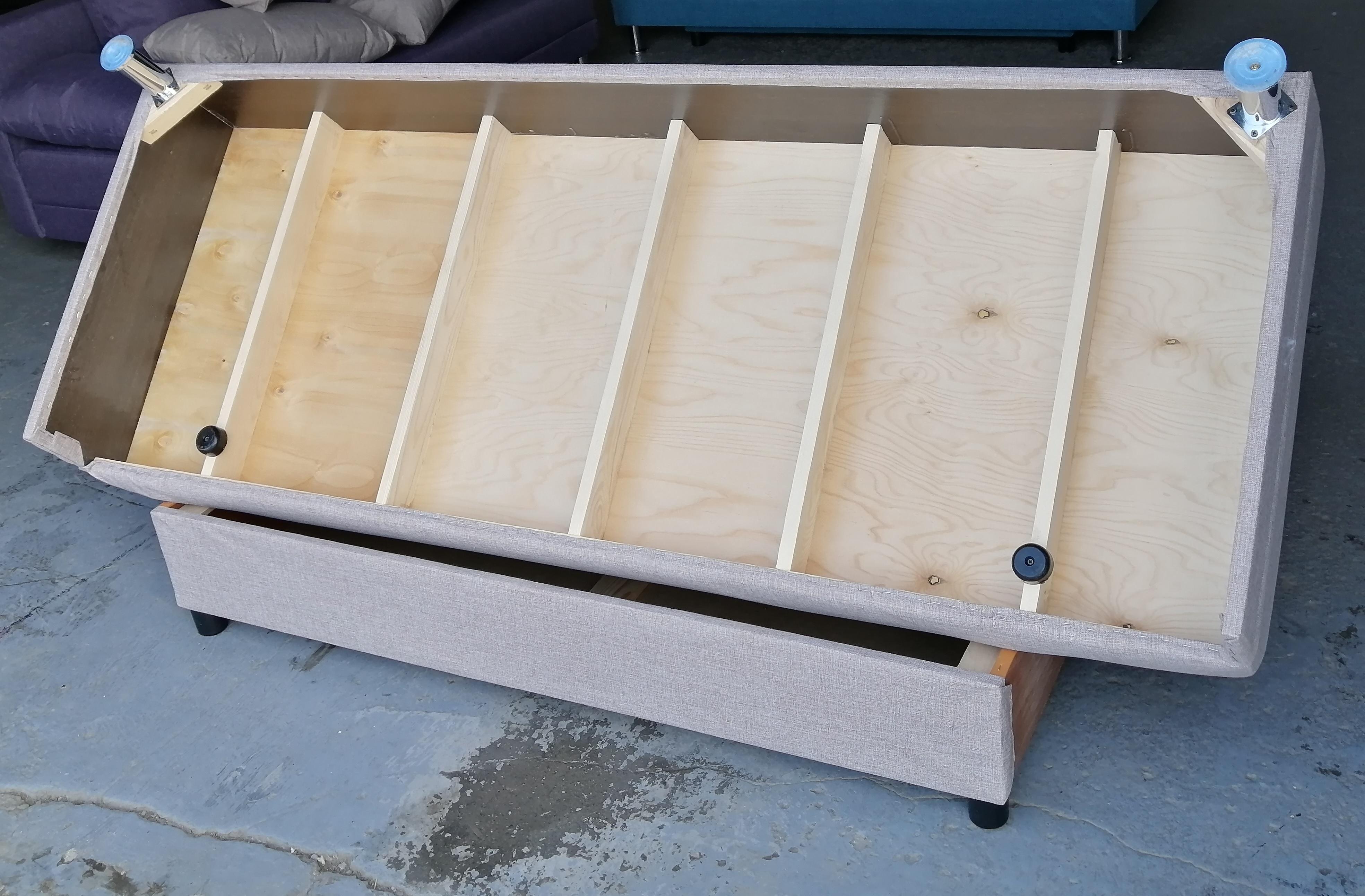 Диван-кровать Комфорт без подлокотников BALTIC LATTE - фото