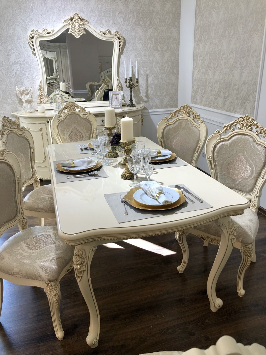 Стол раскладной Джоконда , крем глянец - фото