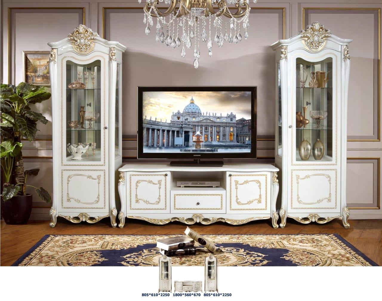 Мебель для гостиной Джоконда крем глянец - фото