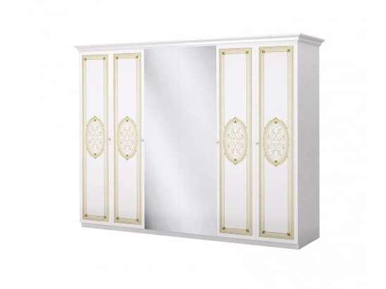 Шкаф Лара беж 6- дверный ИнтерДизайн - фото