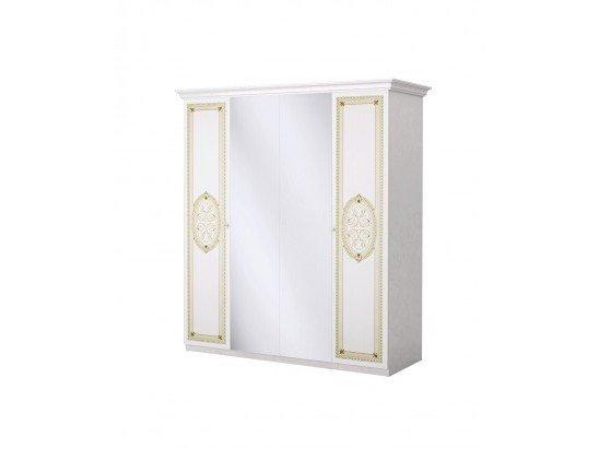 Шкаф Лара беж 4- дверный ИнтерДизайн - фото