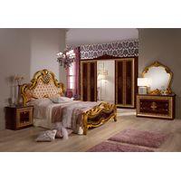 Спальня Анита могано с 6-дверным шкафом - фото