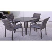 Комплект обеденный для сада и террасы,  стол + 4 кресла - фото