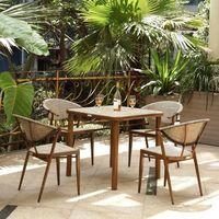 Комплект обеденный, 009 (стол + 4 кресла) - фото