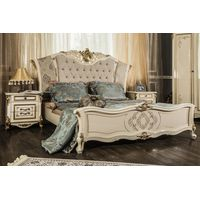 Кровать Оливия крем глянец - фото