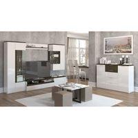 Гостиная Тоскано ясень темный/белый Интердзиайн - фото